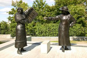 A Nellie McClung Sculpture in Ottawa, Ontario