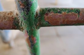 Iron oxide or rust comes in several colors besides the familiar red, including green rust.