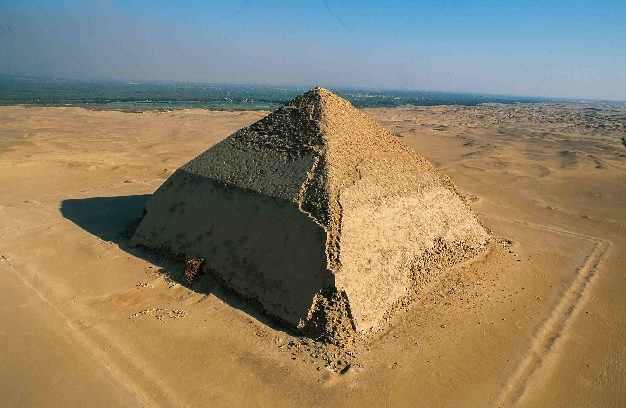 Bent Pyramid of Snefru, south of Cairo, Dahshur necropolis, Giza Governorate, Egypt