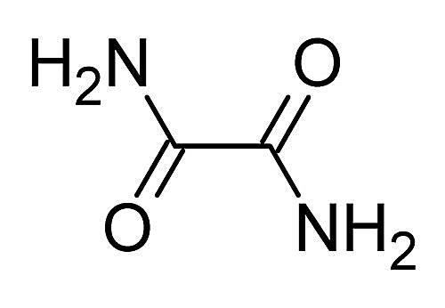 Esta es la estructura química de la oxamida.