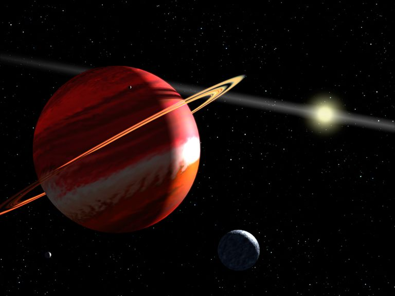 Epsilon Eridani Planet - Artist's Concept of Nearest Exoplanet to Our Solar System Around Epsilon Eridani