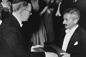 William Faulkner Receiving the Nobel Prize