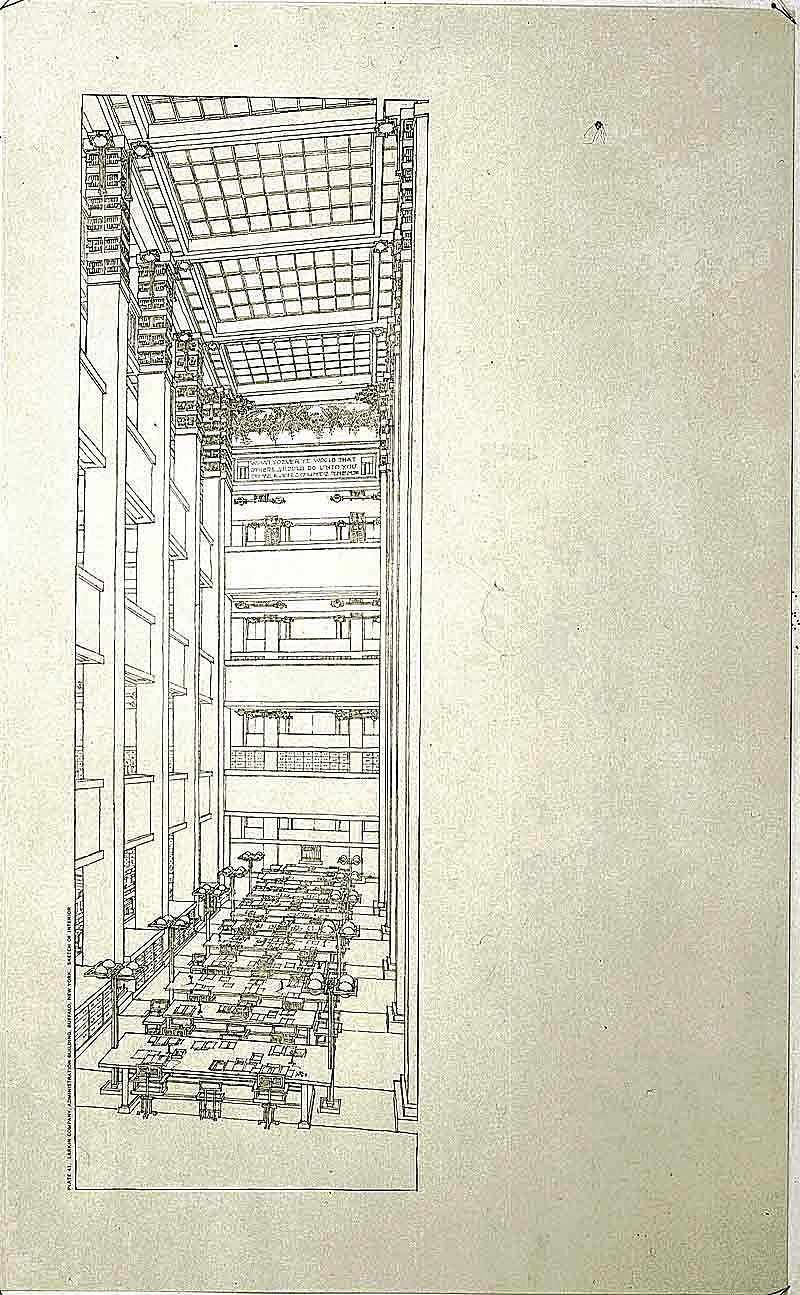 Frank Lloyd Wright worked on the Larkin Building between 1902 and 1906.