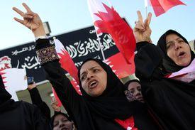 protestors in bahrain