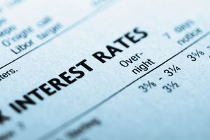 A printout of information on interest rates