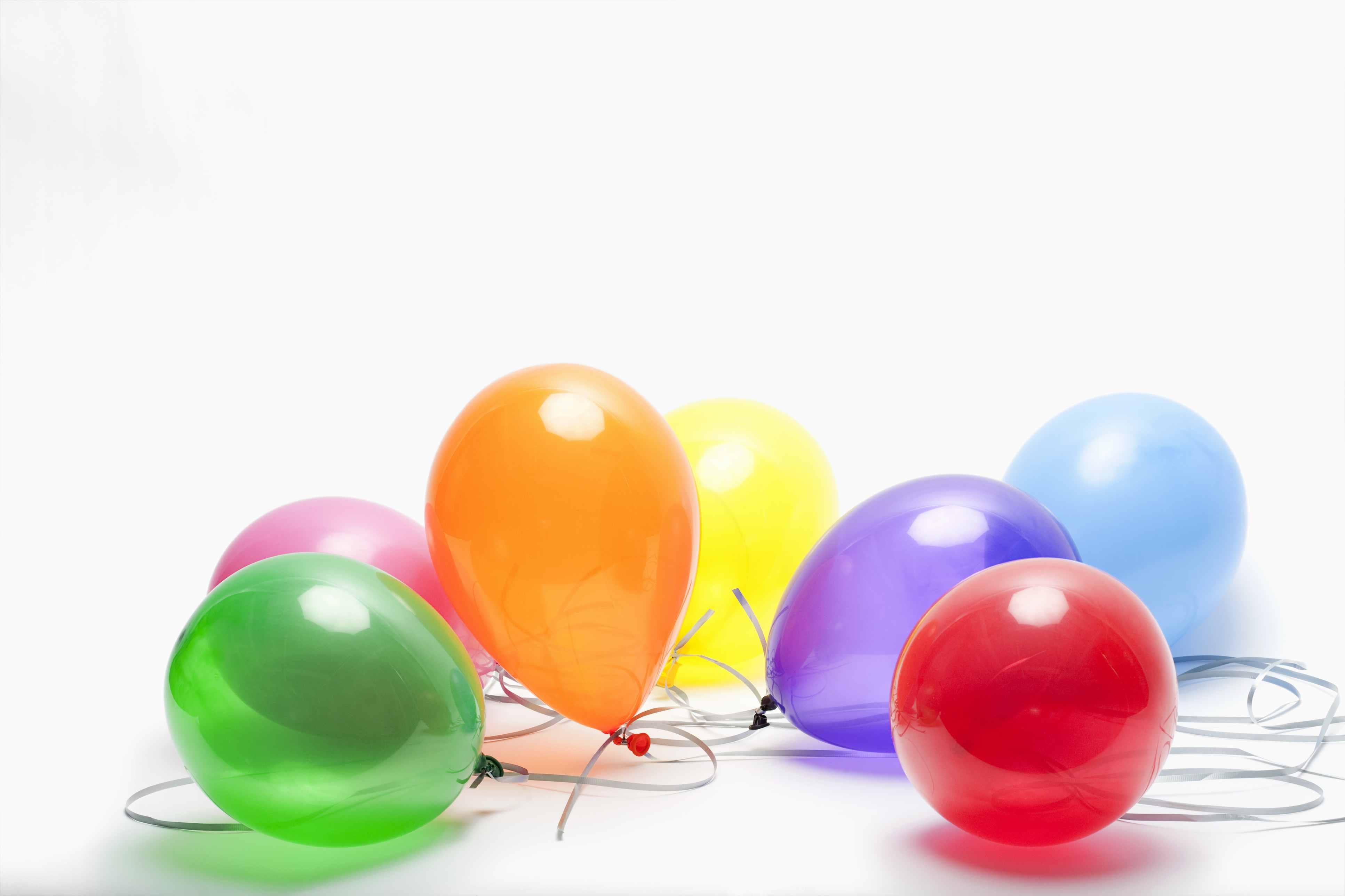 Random colored balloons