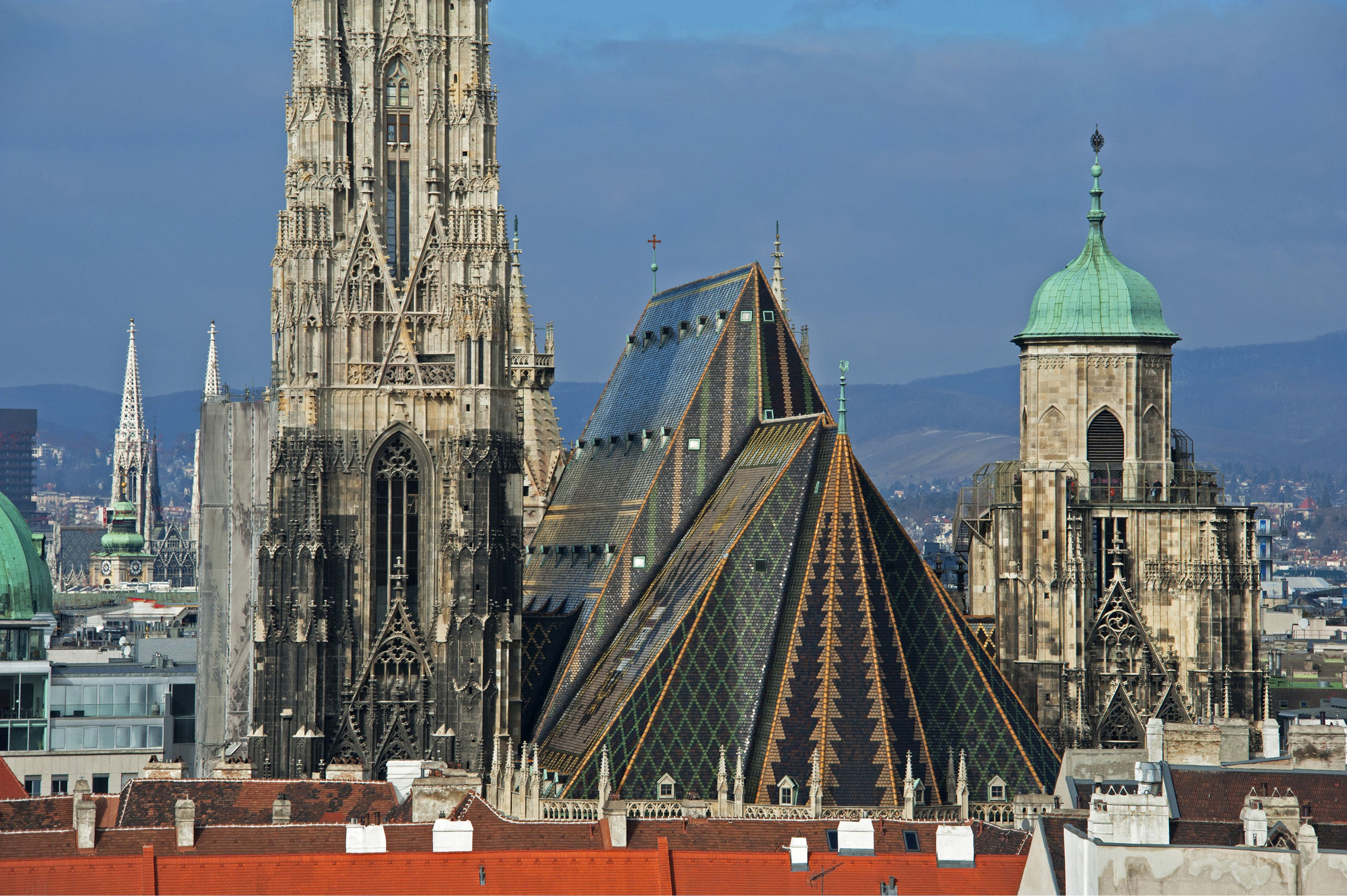 Cathedral spires in Vienna, Austria