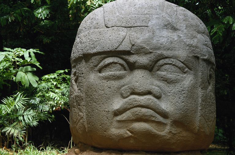 Olmec Head at La Venta, Tabasco, Mexico