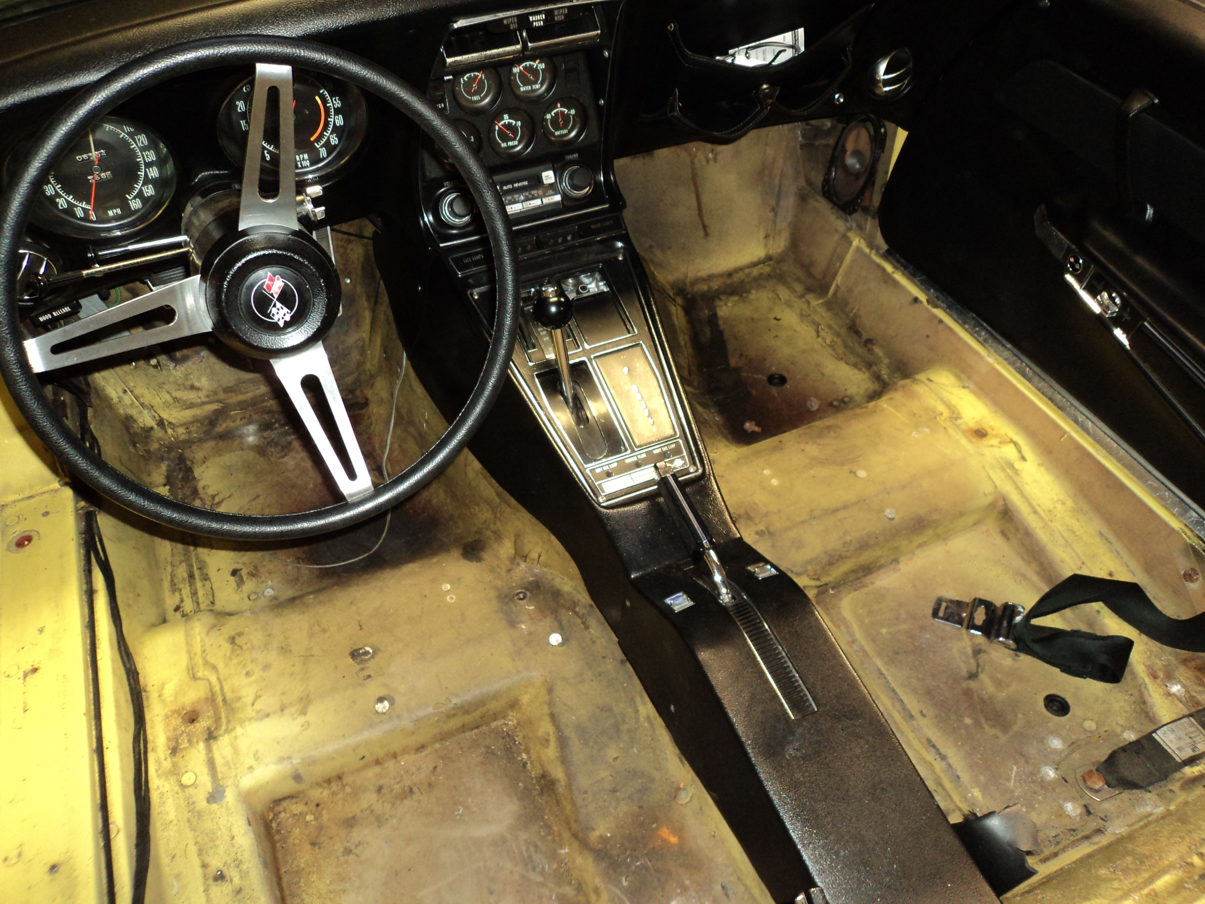 Corvette Carpet Replacement Car Stereo With Complete Installation Dash Kit Wiring Harness Ebay Heres The Floor Of No Installed Its A Good Idea To Wash Pine Sol Or Natures Miracle Remove Odors And Mold
