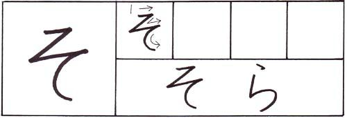 how to write the hiragana so character