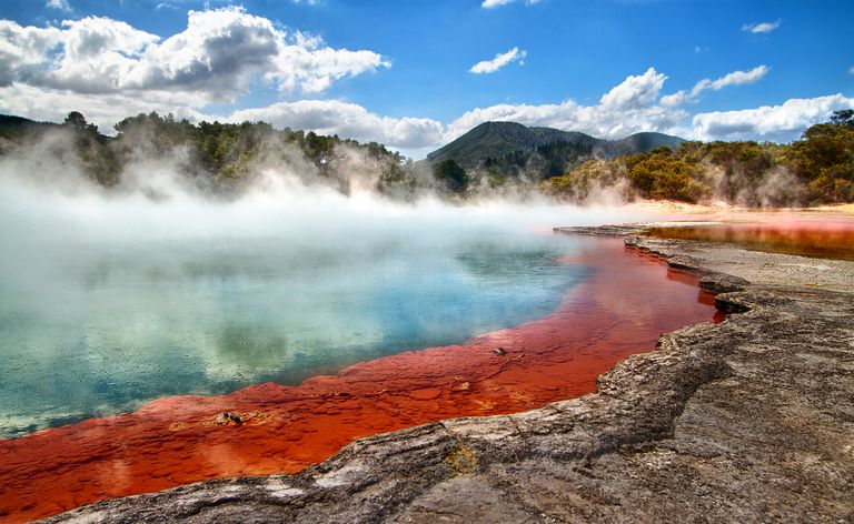Steam rising off a geo-thermal pool