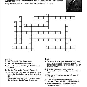 Theodore Roosevelt Crossword Puzzle