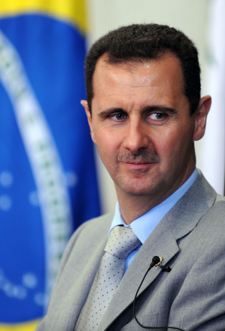 The president of the Syrian Arab Republic, Bashar Al-Assad during a visit to Congress