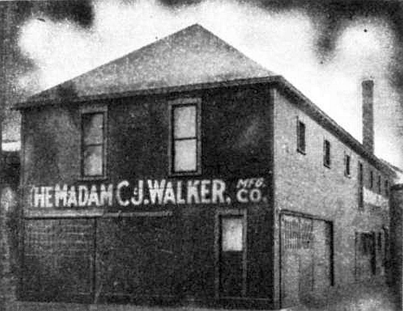 Photograph of Madam CJ Walker Manufacturing Company plant in Indianapolis, Indiana, 1911