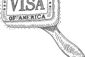 Stamp Visa USA