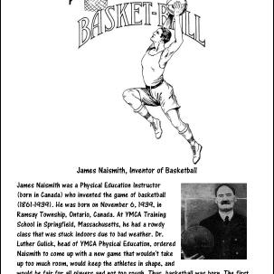 James Naismith, Inventor of Basketball Coloring Page