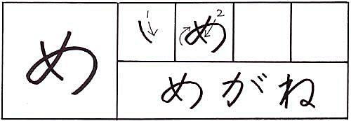 how to write the hiragana me character