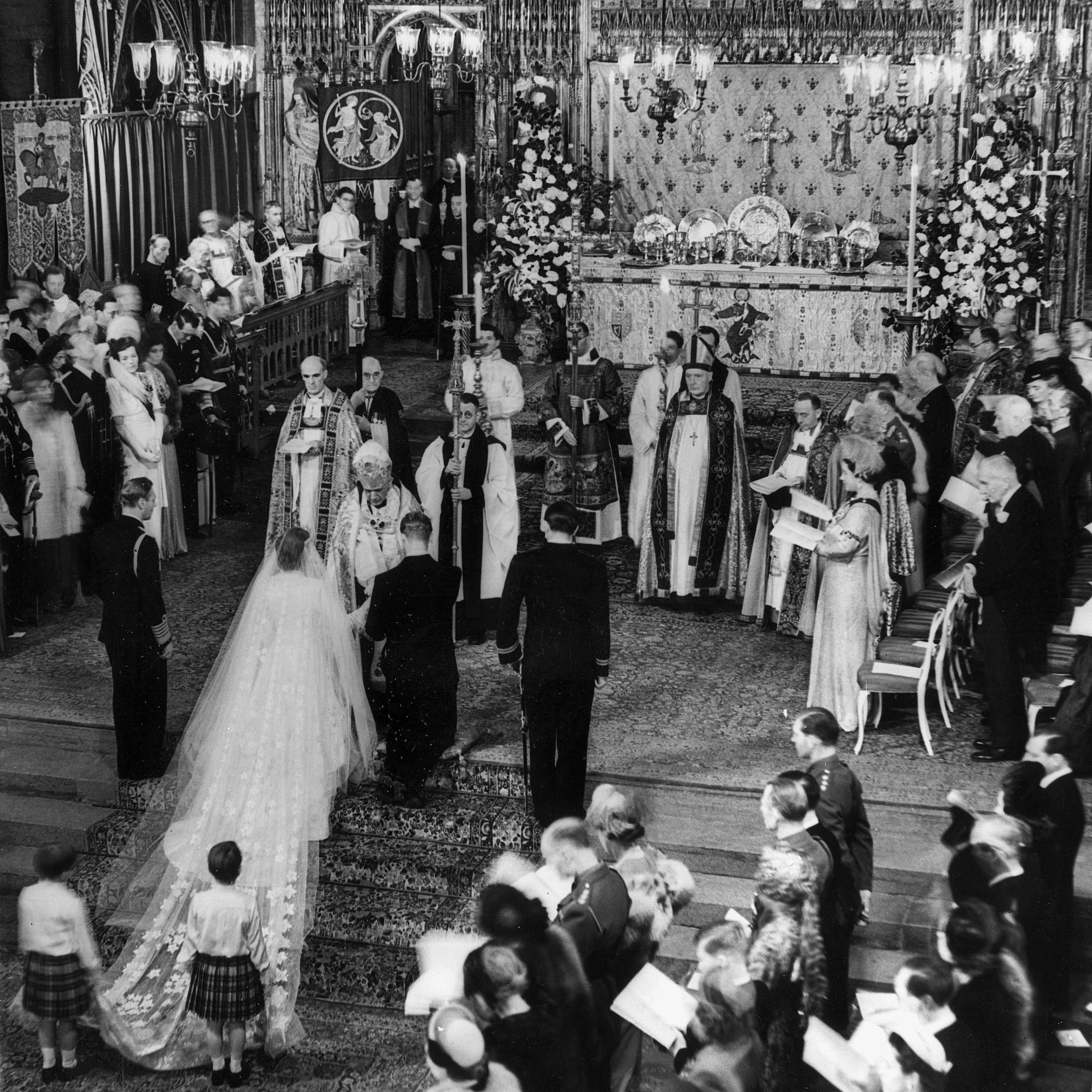 1947年の王室の結婚式-エリザベス王女とフィリップ王子
