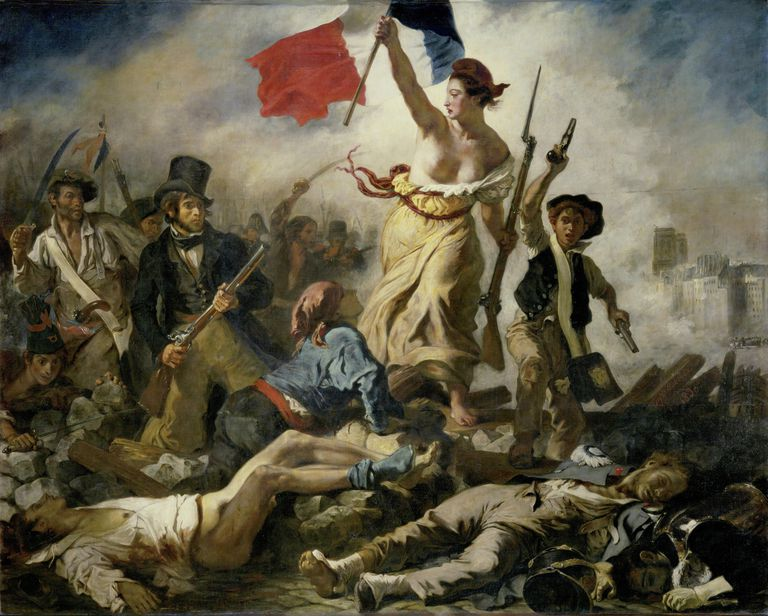 Liberty Leading the People, Eugène Delacroix, 1830, Louvre, Paris
