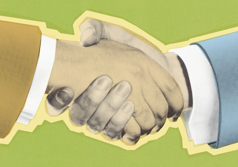 Illustration of a handshake