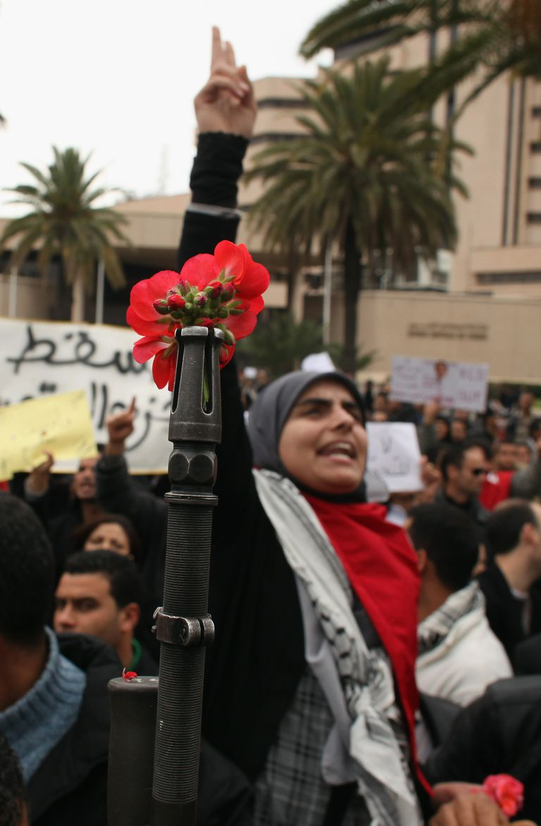 Jasmine Revolution Protestors in Tunisia