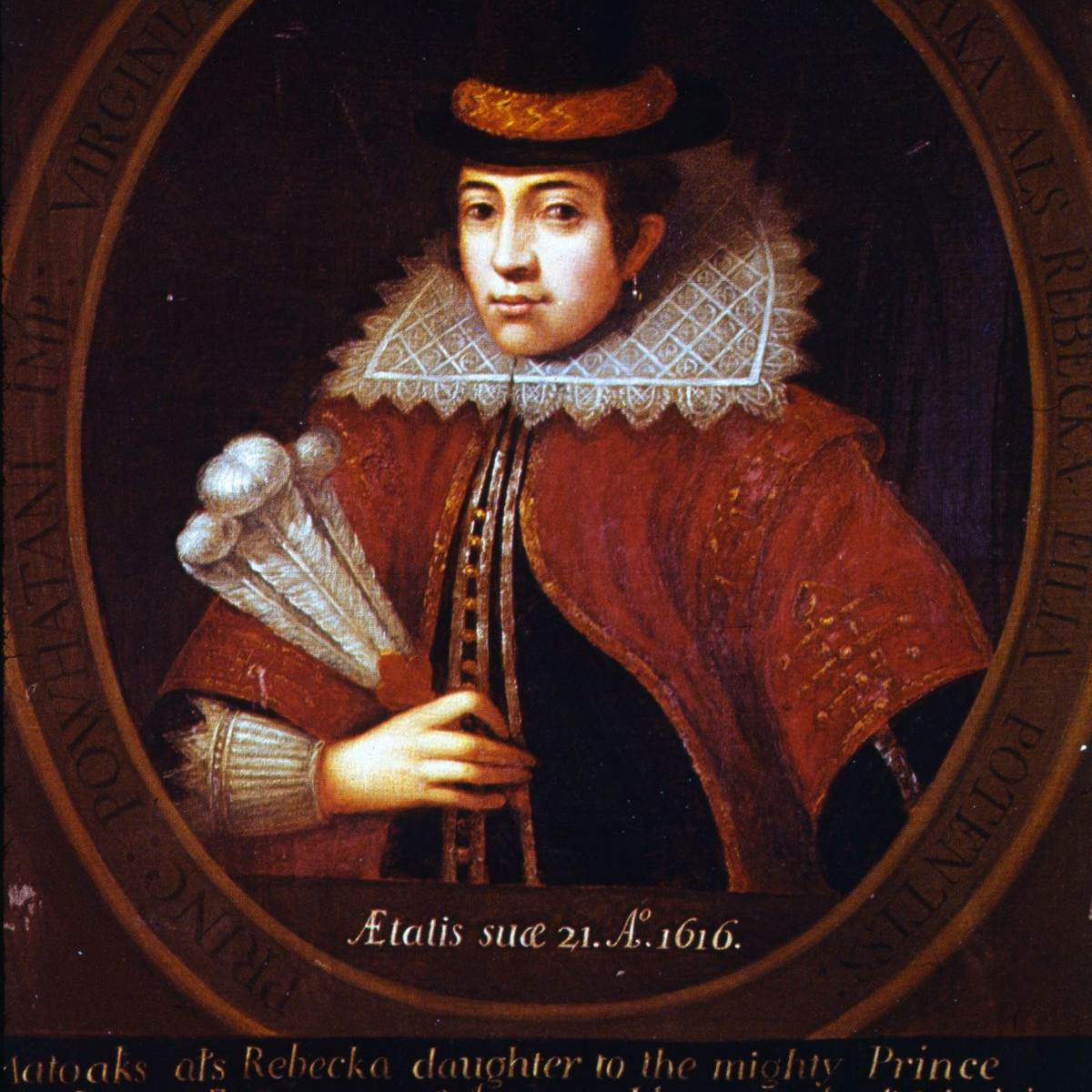 Painted from Life Pocahontas - Rebecca Rolfe - 1616