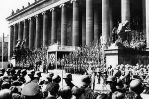 A Nazi rally in 1936