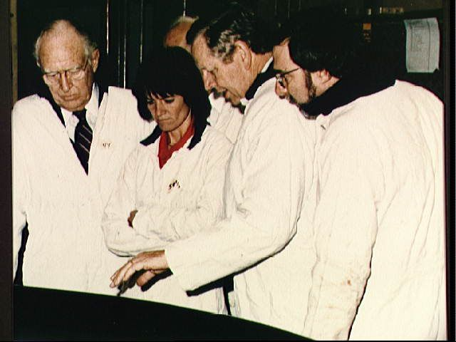 Sally Ride on Presidential Commission investigating the Challenger explosion, 1986.