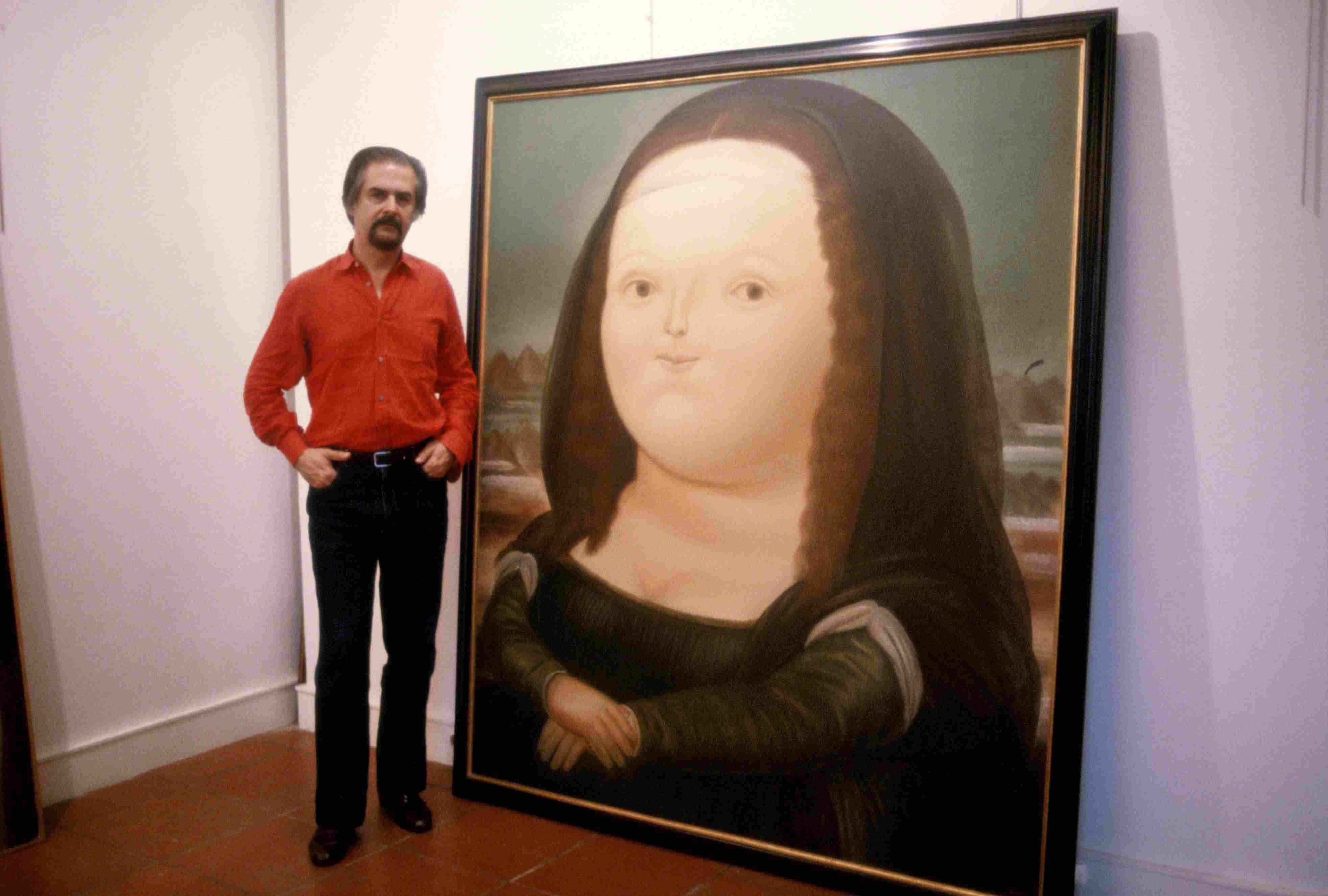 Fernando Botero in seinem Kunststudio in Paris ...