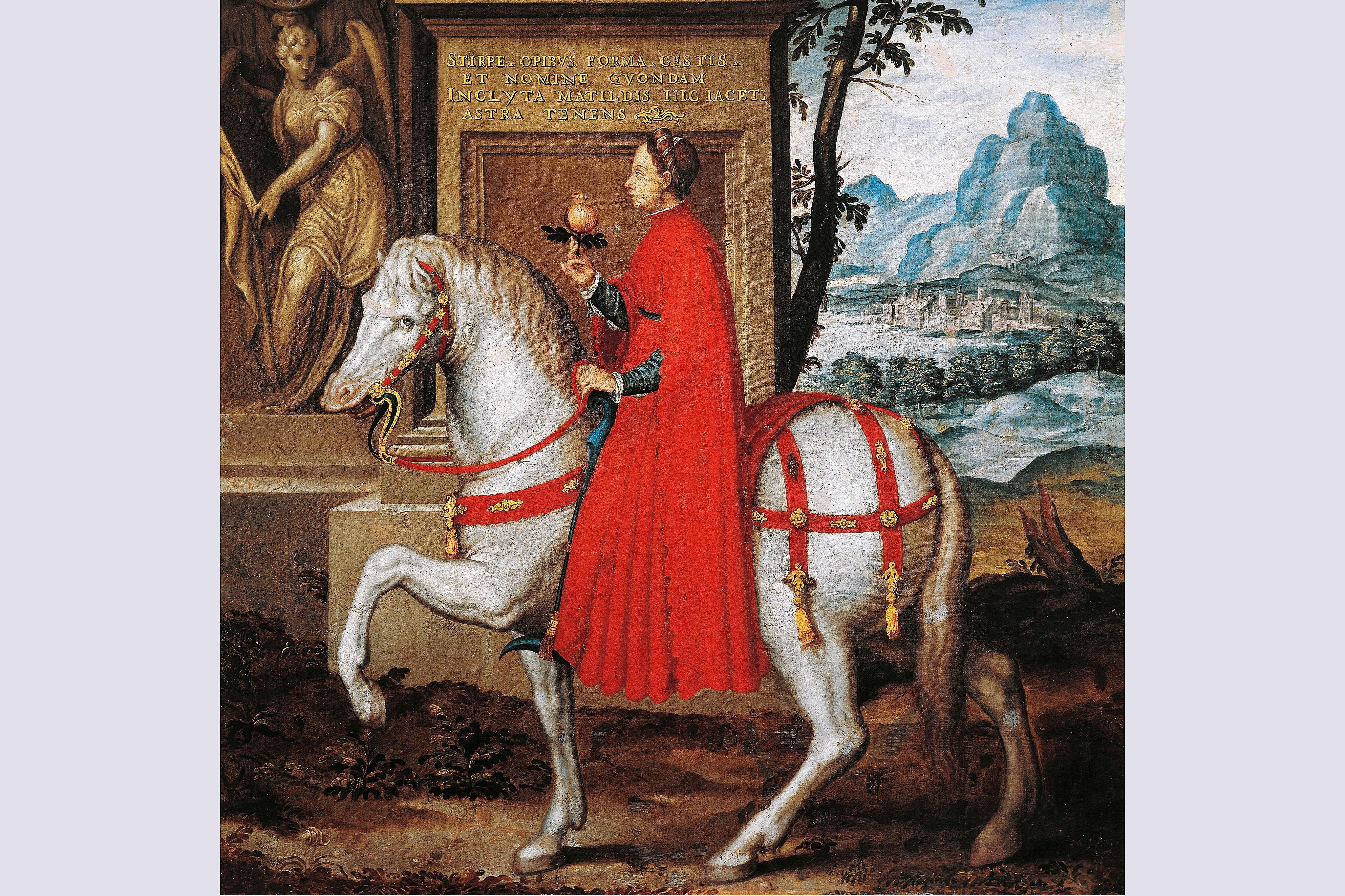 Matilda of Tuscany on horseback