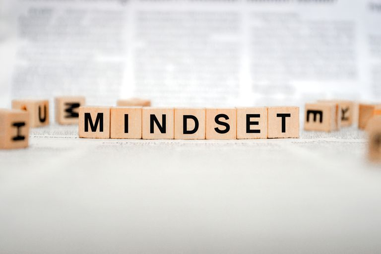 Scrabble blocks spell out MINDSET