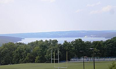 Lake view from Ithaca College