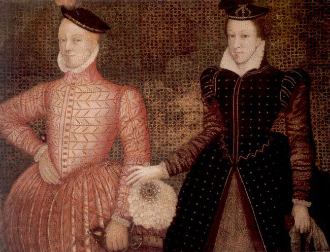 Mary, Queen of Scots, with her second husband, Lord Darnley