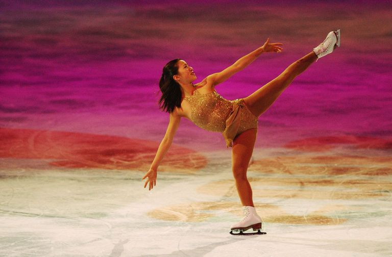 Michelle Kwan performing at the Chevy Skating Spectacular, part of the State Farm US Figure Skating Championships, January, 2003.
