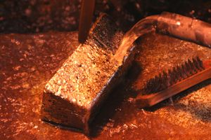 Roasting is the name given to the heating of a metal sulfide ore.