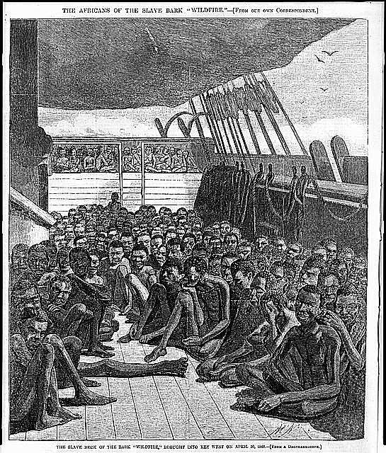 Illustration of slave decks on the Slave Bark Wildfire