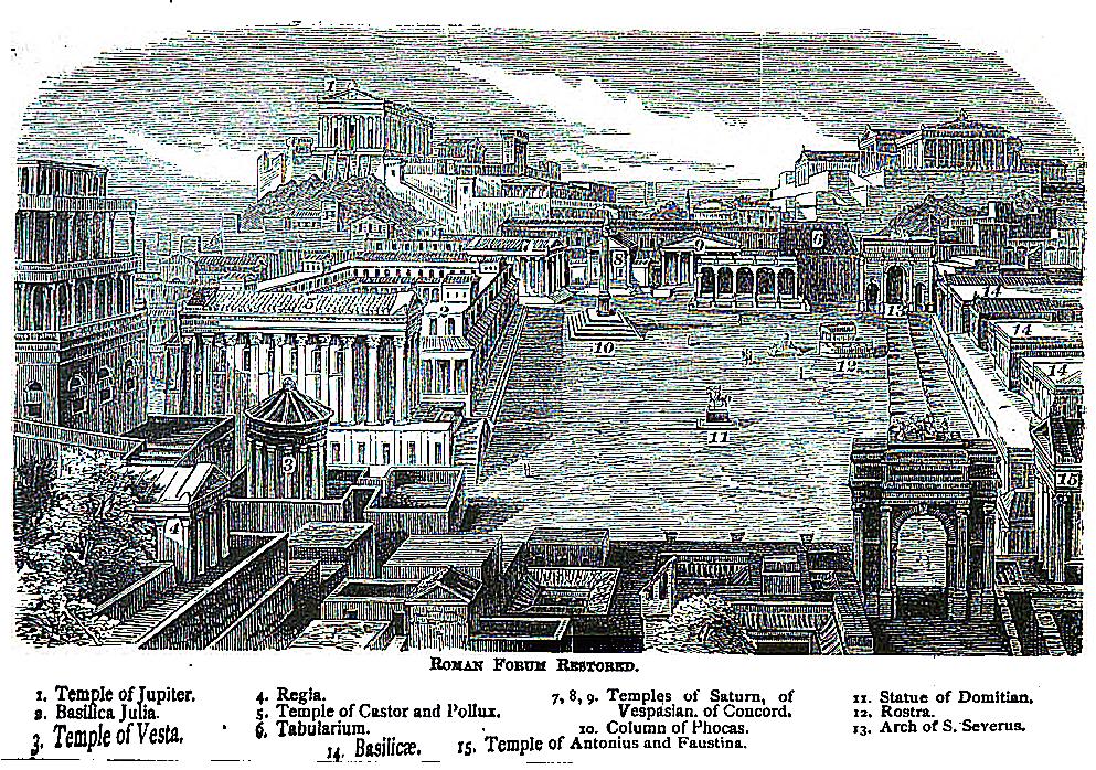 Das Forum Romanum restauriert