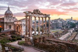 Sunrise, Roman Forum, Rome, Italy