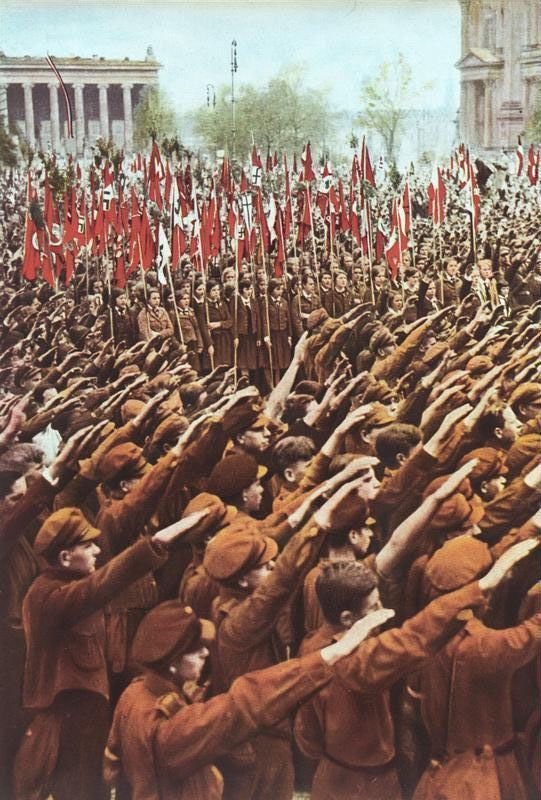 Hitler Youth at a rally in 1933