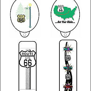 Route 66 Bookmarks and Pencil Toppers