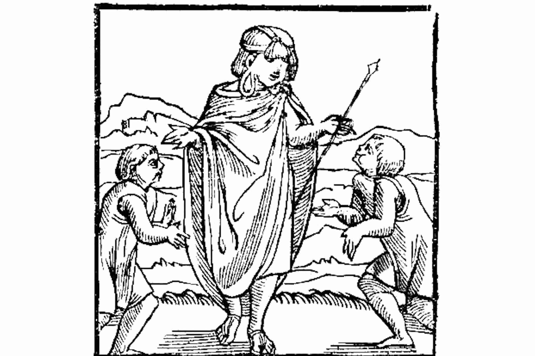 The first image of the Inca in Europe, Pedro Cieza de León, Cronica del Peru, 1553