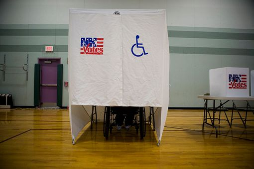 New Hampshire Primary - Disabled Person Voting