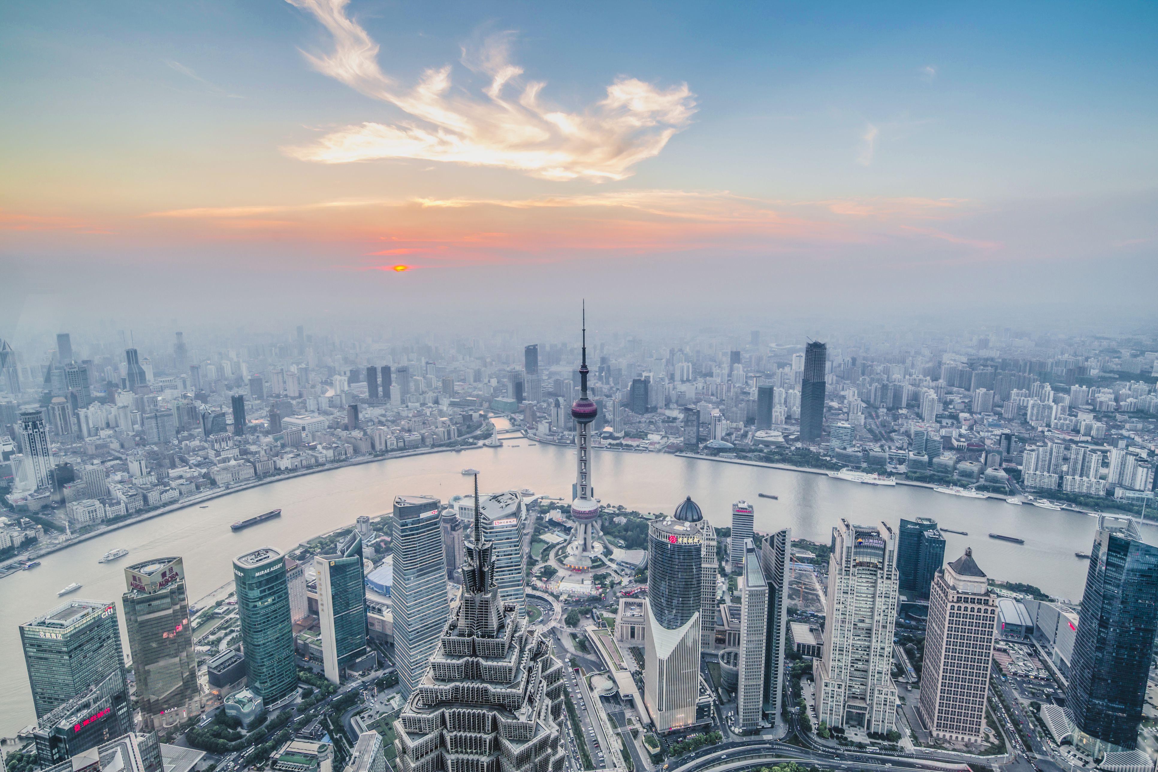Aerial view, Shanghai, China