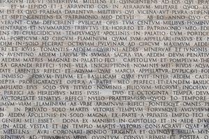 A sample of text written in Latin