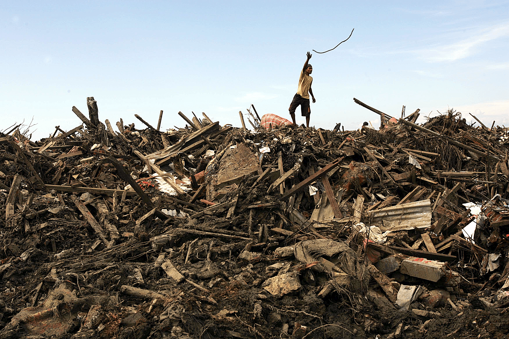 Tsunami damage in Banda Aceh, Indonesia.