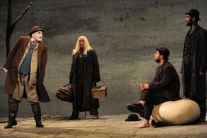 Druid Theatre's Production Waiting For Godot At The Royal Lyceum Theatre In Edinburgh
