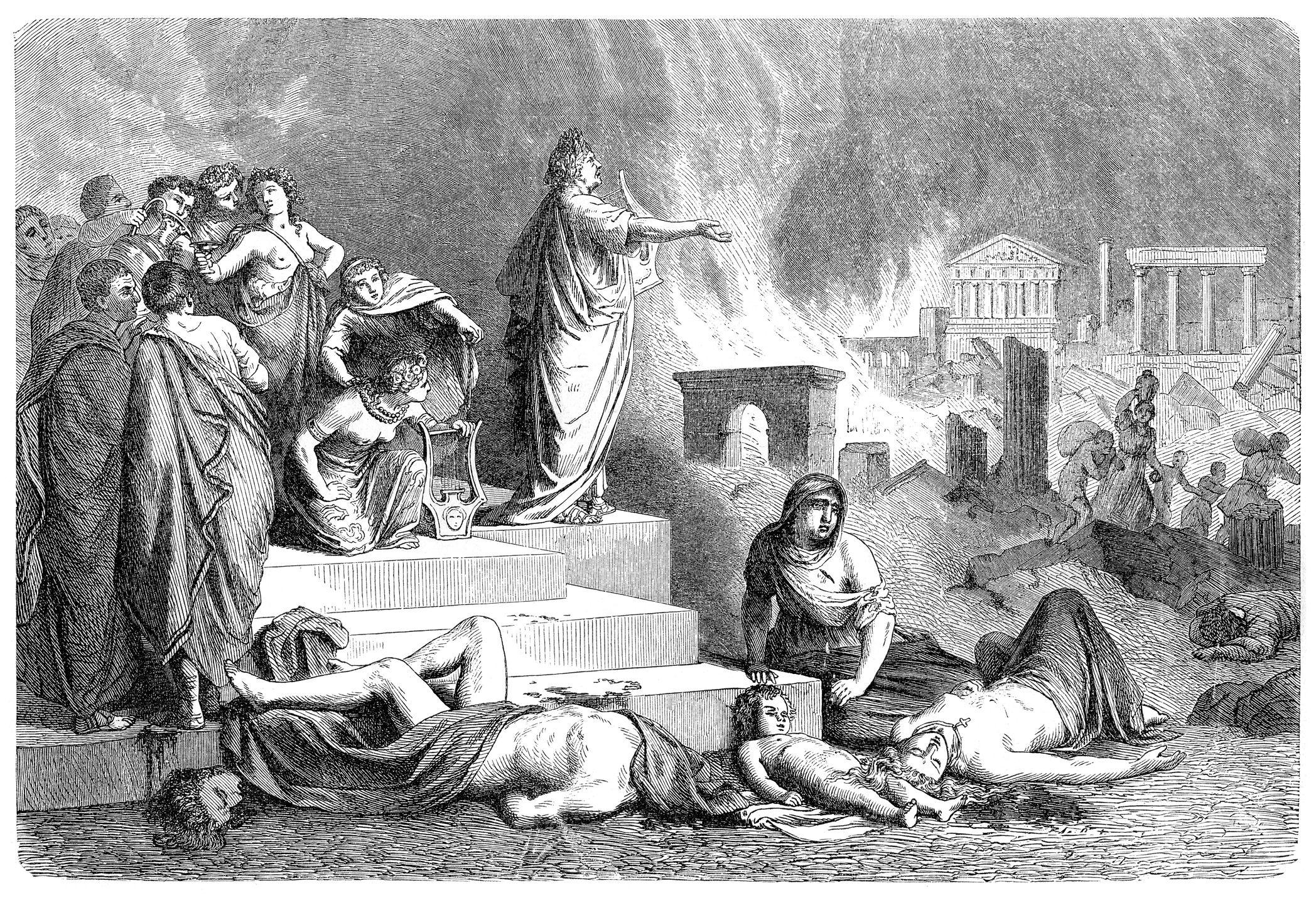 Roma este de ardere, dar Nero nu a făcut-o