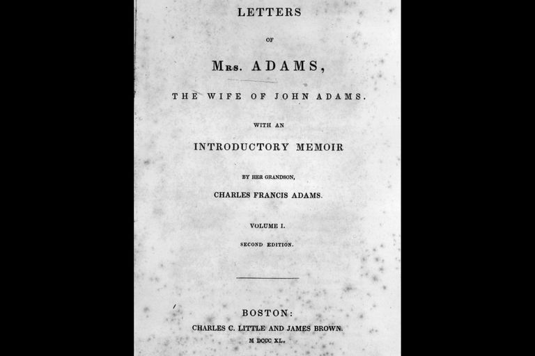 Book Title - Letters of Mrs. Adams