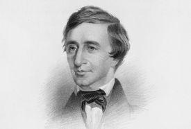 Engraved illustration of young Henry David Thoreau