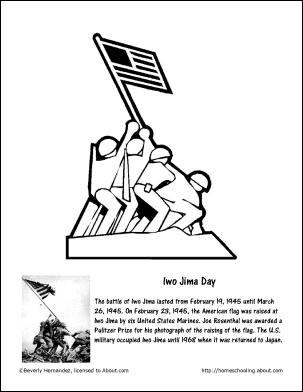 Iwo Jima Day Coloring Page